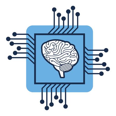 Processor circuit with brain vector illustration design.