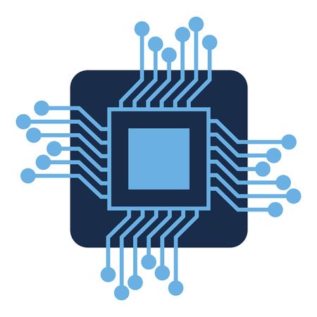 Processor circuit isolated icon vector illustration design.