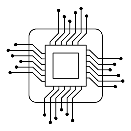 Processor circuit isolated icon vector illustration design.