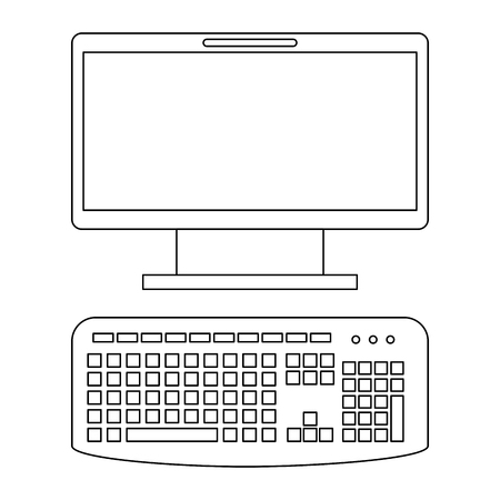 Computer desktop isolated icon vector illustration design.