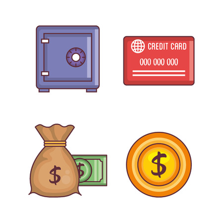 Save money set collection icons vector illustration design.