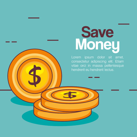 Save money coins icon vector illustration design.