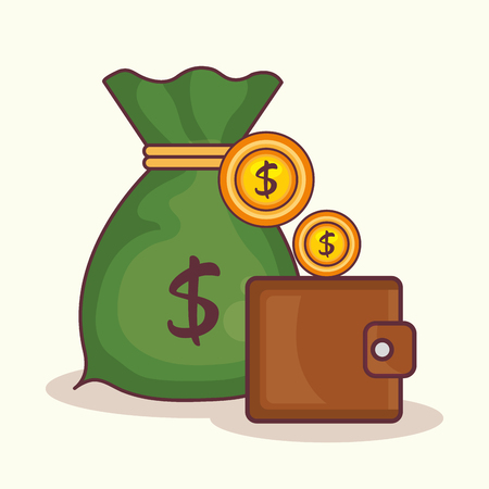 Wallet with money icon vector illustration design.