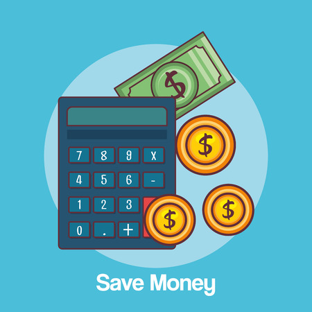 Save money set collection icons vector illustration design