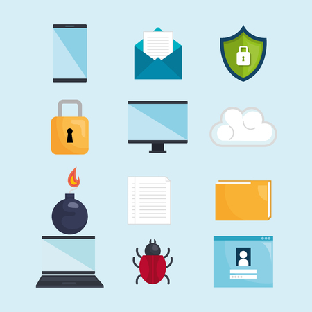Security system concept icons vector illustration design.