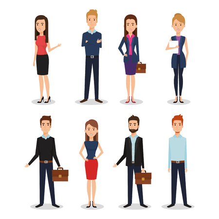 Business people group avatars characters vector illustration design. Ilustração