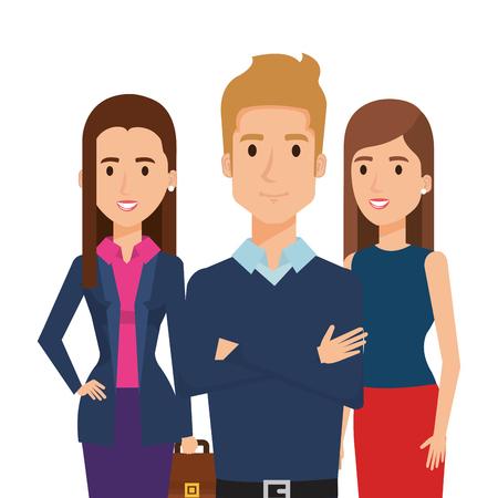 Business people group avatars characters vector illustration design. Illustration