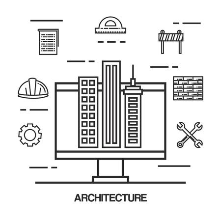 Architectural design set icons vector illustration design. Stock Vector - 92548095