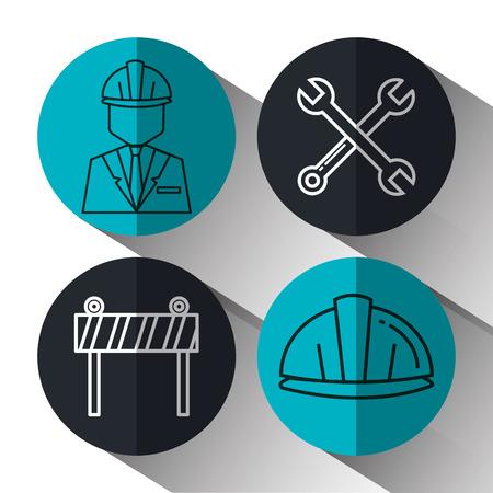 Architectural design set icons vector illustration design. Çizim