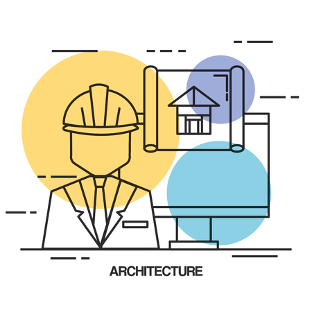 Architectural design set icons vector illustration design. Ilustrace