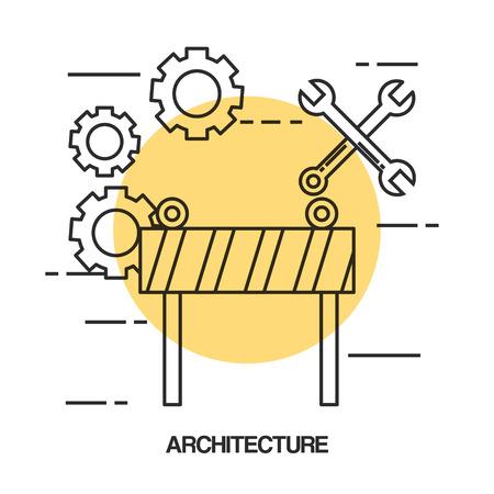 建築デザインセットアイコンベクトルイラストデザイン