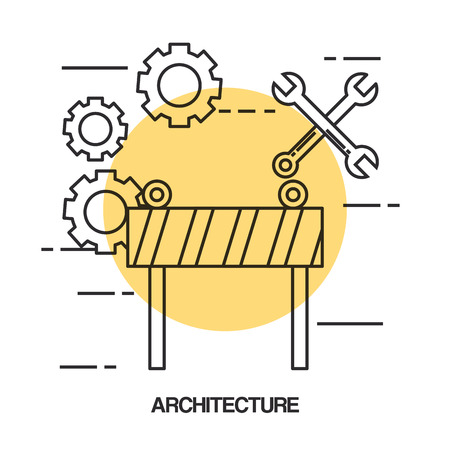architectural design set icons vector illustration design Ilustração