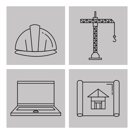 Architectural design set icons vector illustration design. Иллюстрация