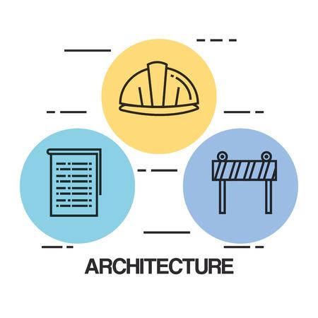 ●建築デザインセットアイコンベクトルイラストデザイン。