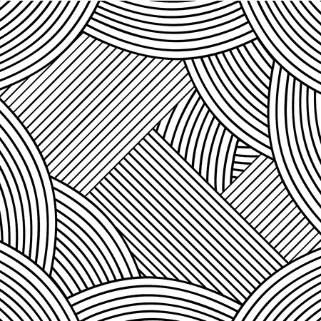 Abstract adult coloring art vector illustration design. Illustration