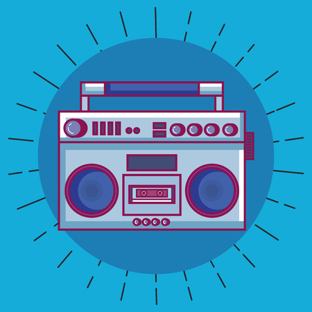 Radio retro technology icon vector illustration design.