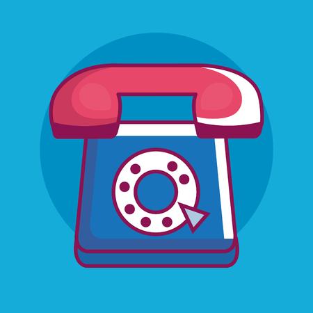 Telephone retro technology icon vector illustration design. 向量圖像
