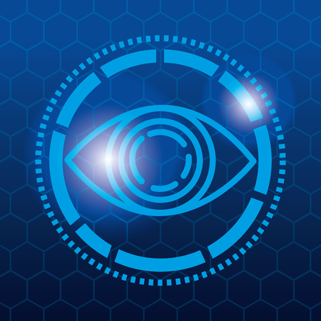 Eye view security technology icon  illustration design 向量圖像