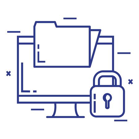 Progettazione dell'illustrazione dell'icona della cartella di tecnologia del sistema di sicurezza Archivio Fotografico - 92541167