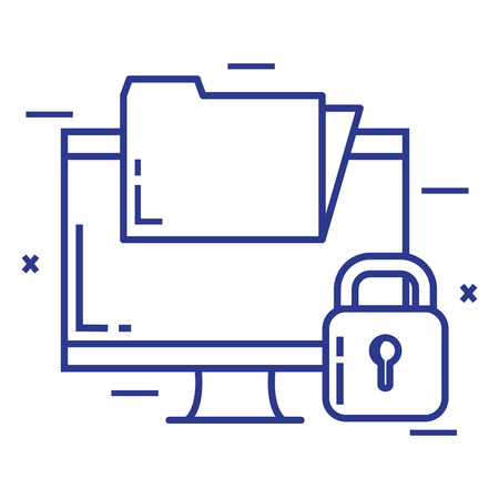 Security system technology folder icon illustration design Imagens - 92541167