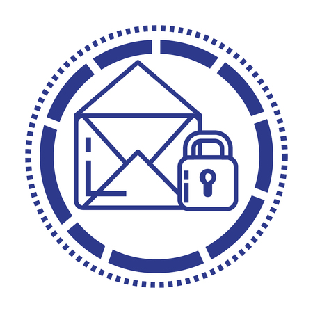 Security system technology file icon illustration design