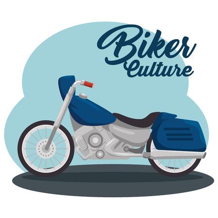 classic vintage motorcycle biker culture vector illustration graphic design