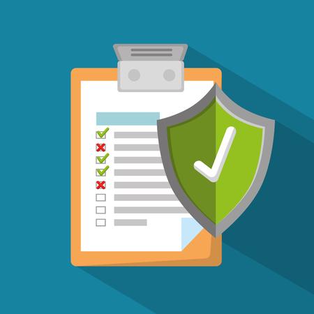 insurance policy services vector illustration graphic design Vettoriali