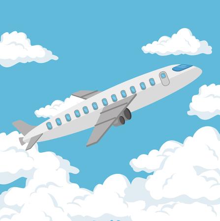 airplane travel insurance service concept vector illustration graphic design Illustration