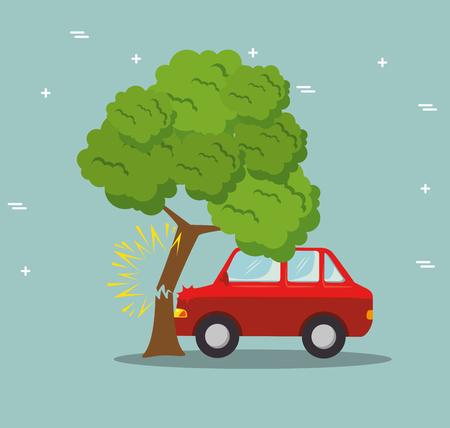 Car insurance service concept vector illustration graphic design