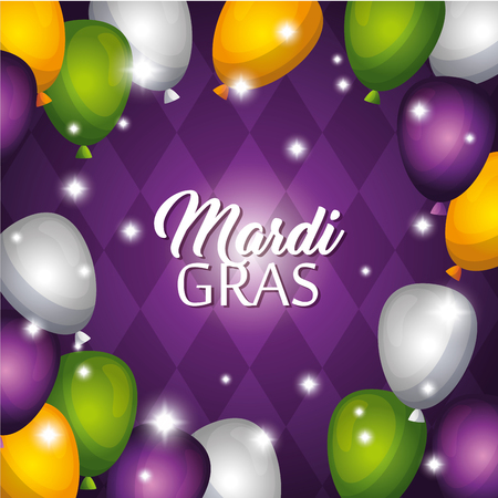 Mardi gras carnival party poster background vector illustration graphic design.