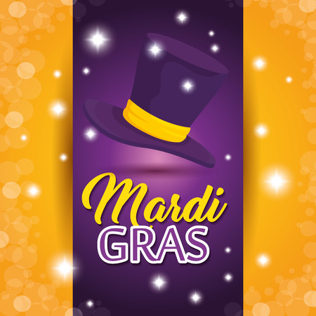 Mardi gras carnival party poster background vector illustration graphic design