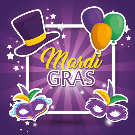 mardi gras carnival party poster background vector illustration graphic design Stock Vector - 92953111