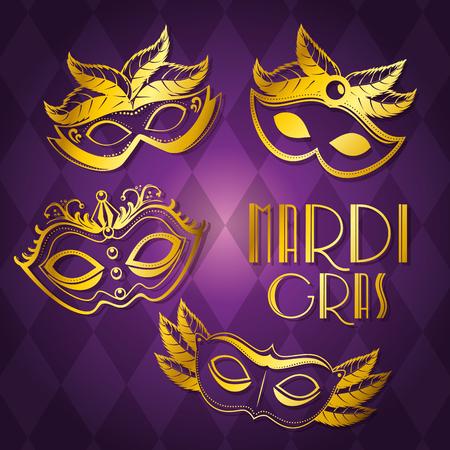 Van de achtergrond carnavalpartij van Mardi van de partijaffiche vector de illustratie grafisch ontwerp