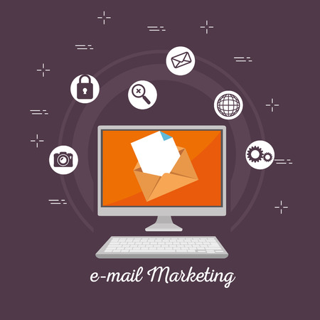 email marketing internet advertising concept vector illustration graphic design