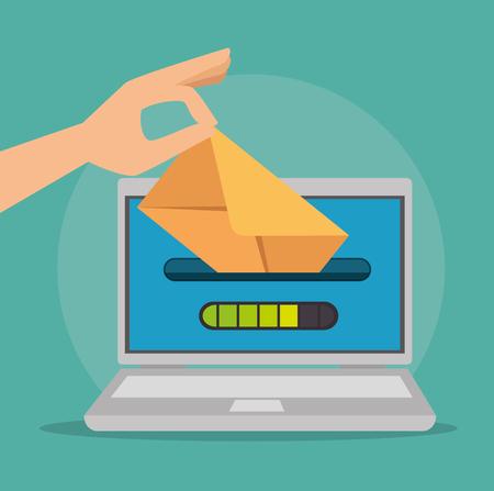 メールマーケティングインターネット広告コンセプトベクトルイラストグラフィックデザイン
