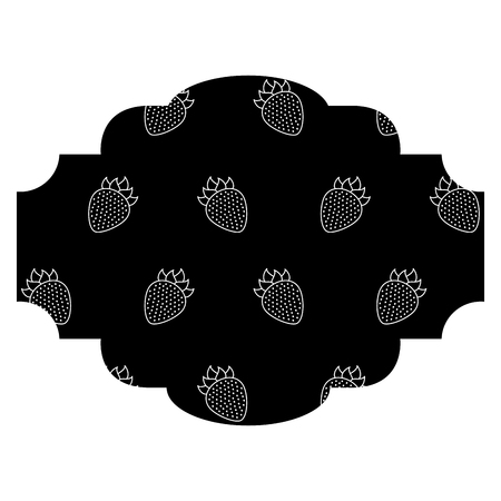 frame with blackberries pattern background vector illustration design Ilustração