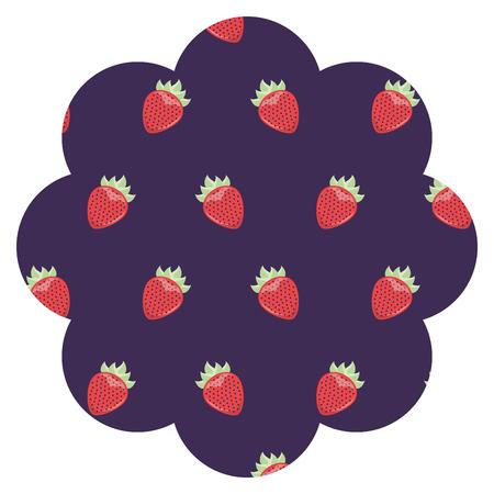 블랙 베리 패턴 배경 벡터 일러스트 디자인 프레임입니다.