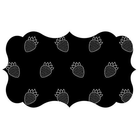 블랙 베리 패턴 배경 벡터 일러스트 디자인 프레임