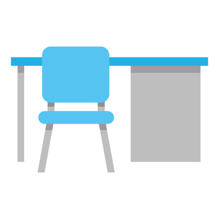 Office desk and chair vector illustration design