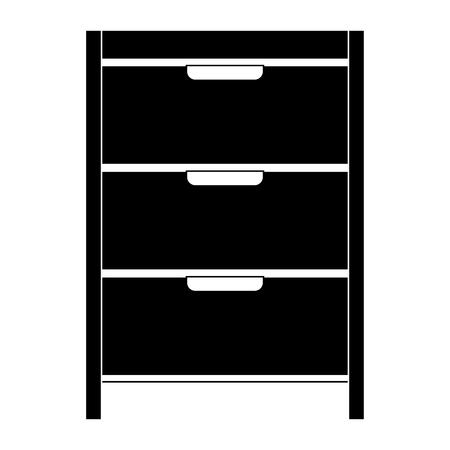 Hôpital réparation tiroir isolé icône du design illustration vectorielle Banque d'images - 93058603
