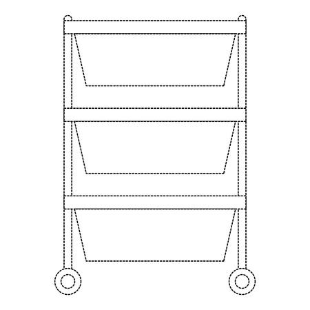 Hospital operating drawer isolated icon vector illustration design Illusztráció