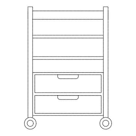 Vector de illustratieontwerp van het ziekenhuis werkend lade geïsoleerd pictogram Stock Illustratie