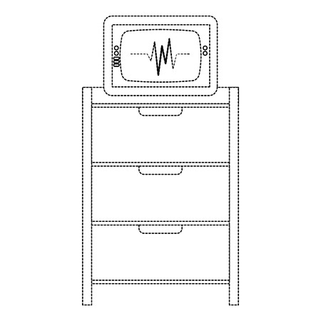 Hospital operating drawer with ecg machine vector illustration design 向量圖像