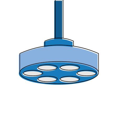 Ontwerp van de het pictogram het vectorillustratie van de operatiekamerlamp