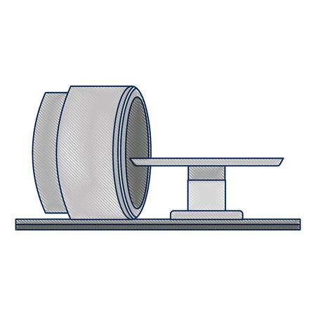 Tomography scanner machine icon vector illustration design
