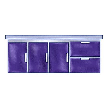 Ontwerp van de het pictogram vectorillustratie van het ziekenhuis het lade geïsoleerde