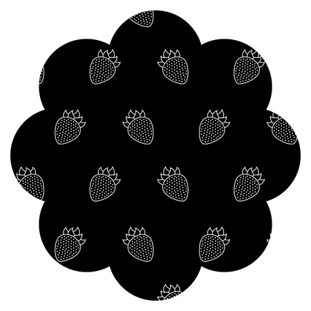 frame with blackberries pattern background vector illustration design 向量圖像