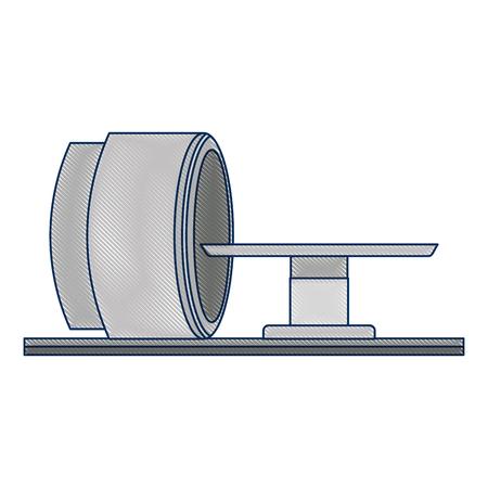 断層撮影スキャナーマシンアイコンベクトルイラストデザイン  イラスト・ベクター素材