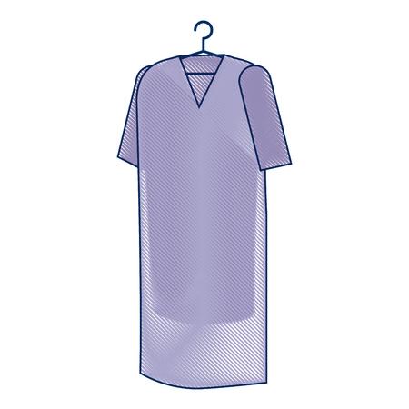 患者コート吊りアイコンベクトルイラストデザイン