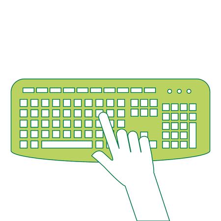 キーボードアイコンベクトルイラストデザインを持つユーザー